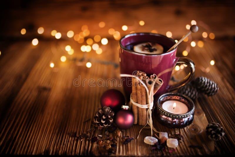 Kerstmisstilleven met thee royalty-vrije stock fotografie