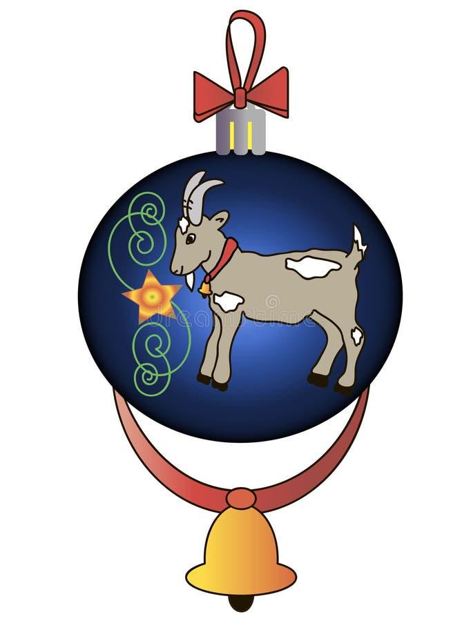Kerstmisstuk speelgoed met een geit royalty-vrije stock fotografie