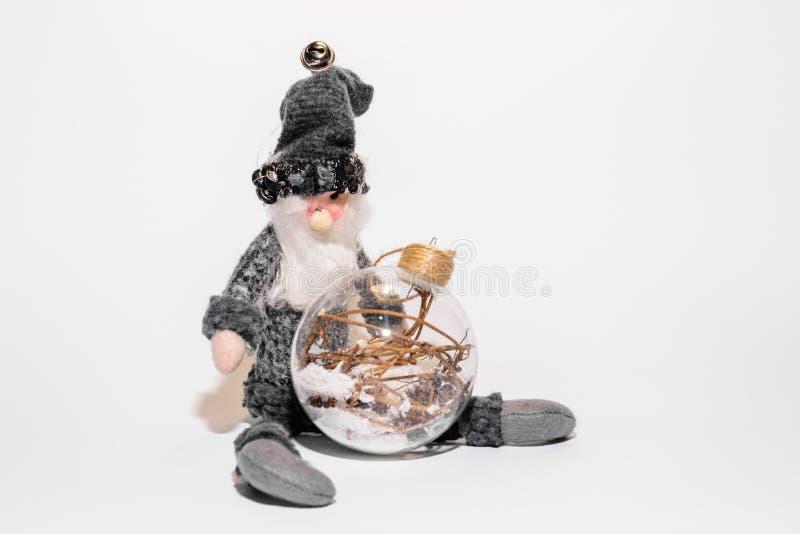 Kerstmisstuk speelgoed met transparante bal stock foto