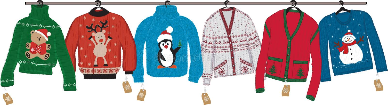 Kerstmissweaters royalty-vrije illustratie