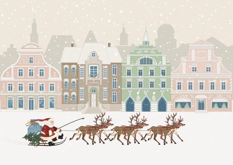 Kerstmistijd royalty-vrije illustratie