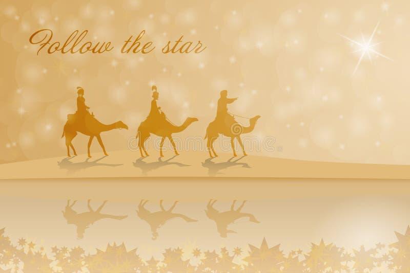 Kerstmistijd - de drie koningen stock illustratie