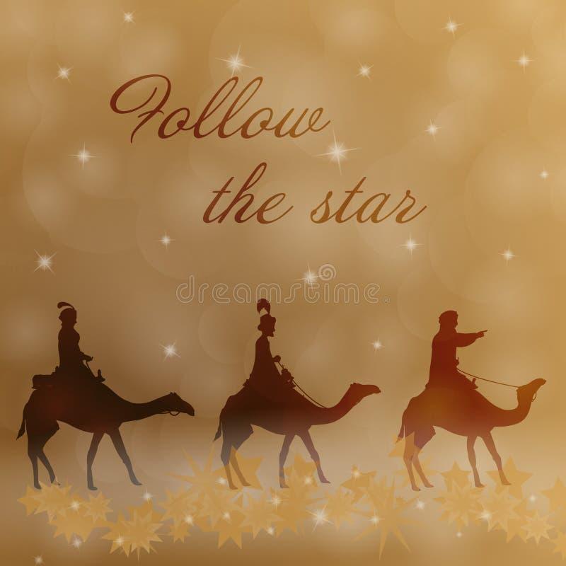 Kerstmistijd - de drie koningen vector illustratie