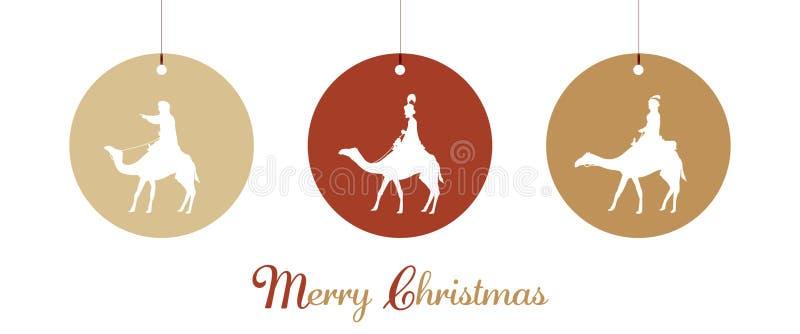Kerstmistijd - drie koningen royalty-vrije stock foto's