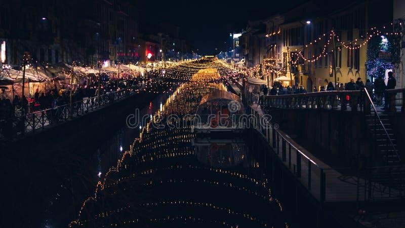 Kerstmistijd in Milaan royalty-vrije stock foto