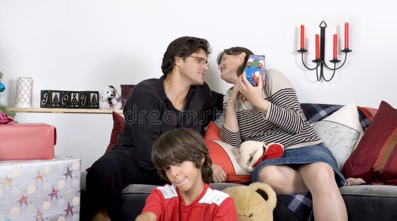 De Tijd Van Familiekerstmis Gratis Stock Foto's