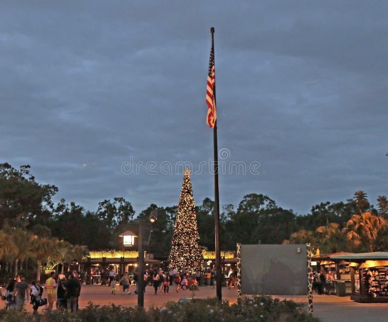 Kerstmistijd, Walt Disney World, Orlando, Florida stock foto