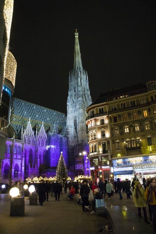 Kerstmistijd in Wenen royalty-vrije stock fotografie