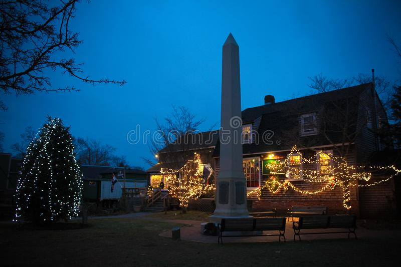 Kerstmistijd in Wickford, Rhode Island royalty-vrije stock afbeelding