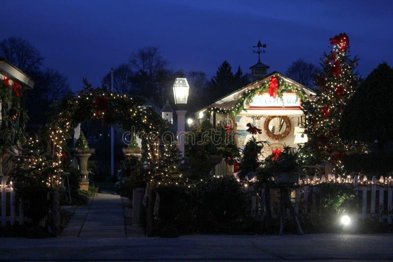 Kerstmistijd in Wickford, Rhode Island royalty-vrije stock afbeeldingen