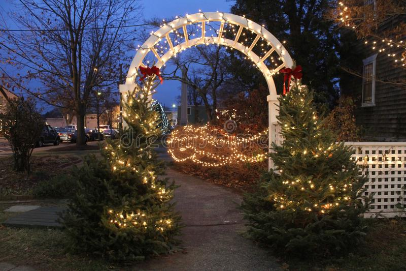 Kerstmistijd in Wickford, Rhode Island royalty-vrije stock fotografie