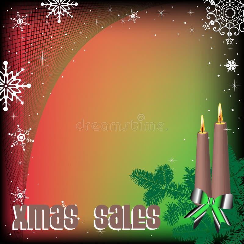 Kerstmisverkoop royalty-vrije illustratie