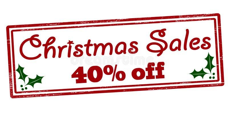 Kerstmisverkoop veertig percenten weg royalty-vrije stock foto's