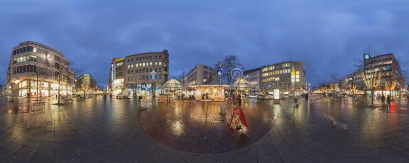 Kerstmisverlichting in Hanover royalty-vrije stock foto
