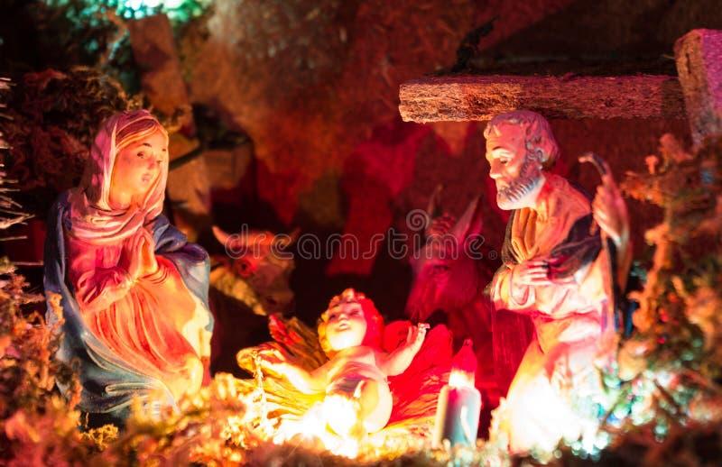 Kerstmisvoederbak royalty-vrije stock fotografie