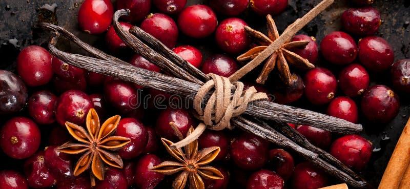 Kerstmisvoedsel Ingrediënten voor het koken Kerstmisbaksel royalty-vrije stock afbeelding