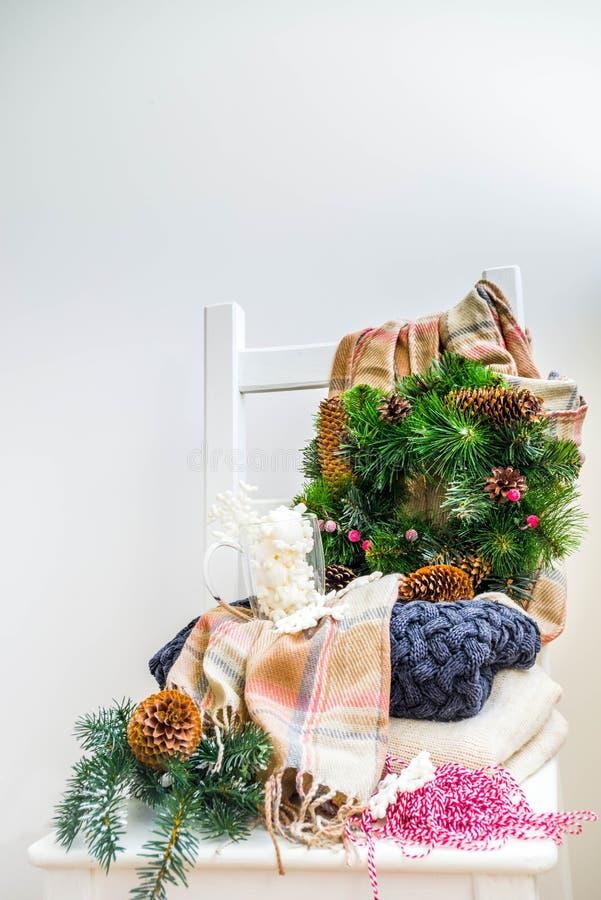 Kerstmisvoorbereidingen, nieuw jaarconcept royalty-vrije stock afbeelding