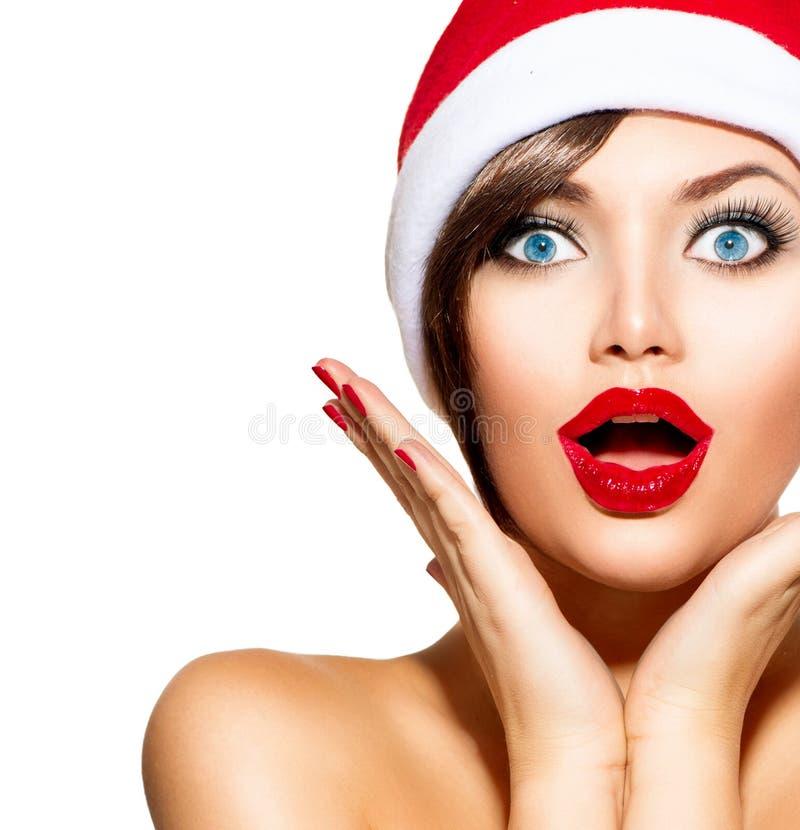 Kerstmisvrouw royalty-vrije stock fotografie