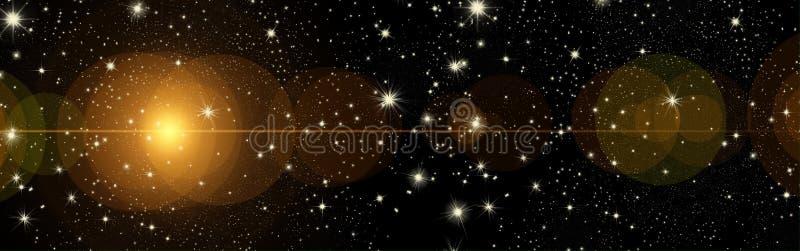 Kerstmiswensen, boog met sterren, achtergrond stock foto