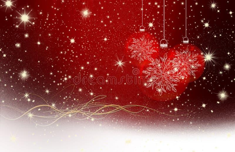 Kerstmiswensen, sterren, achtergrond stock illustratie