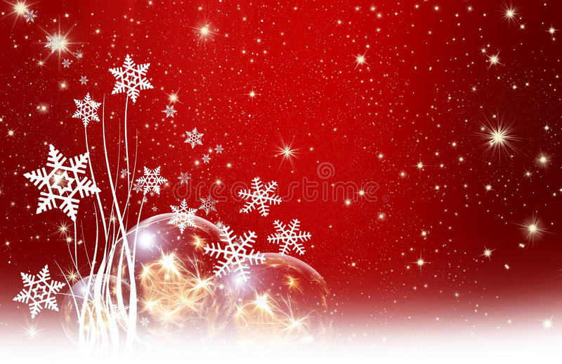 Kerstmiswensen, sterren, achtergrond vector illustratie