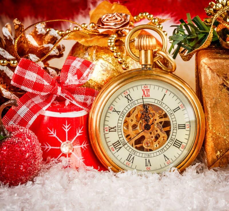 Kerstmiszakhorloge royalty-vrije stock fotografie