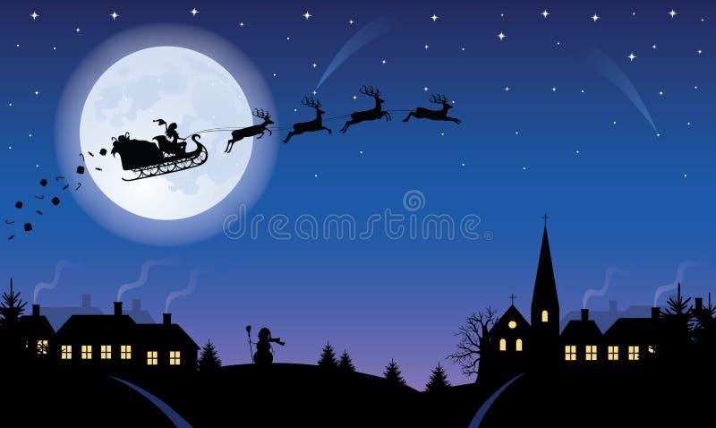 Kerstnacht. vector illustratie