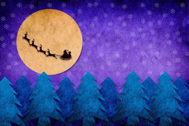 Kerstnacht royalty-vrije illustratie