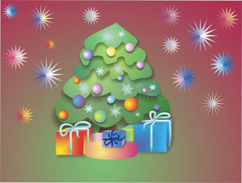 Kerstnacht stock illustratie