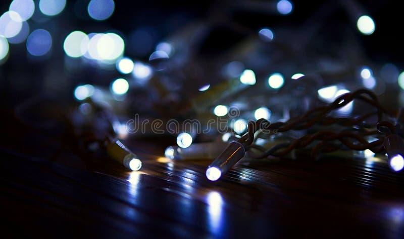 Kerstnachtlichten stock fotografie