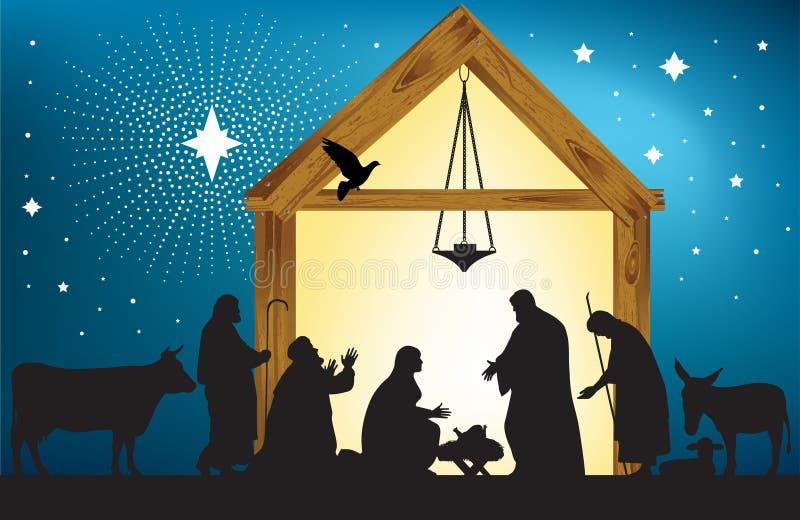 Kerstster stock illustratie