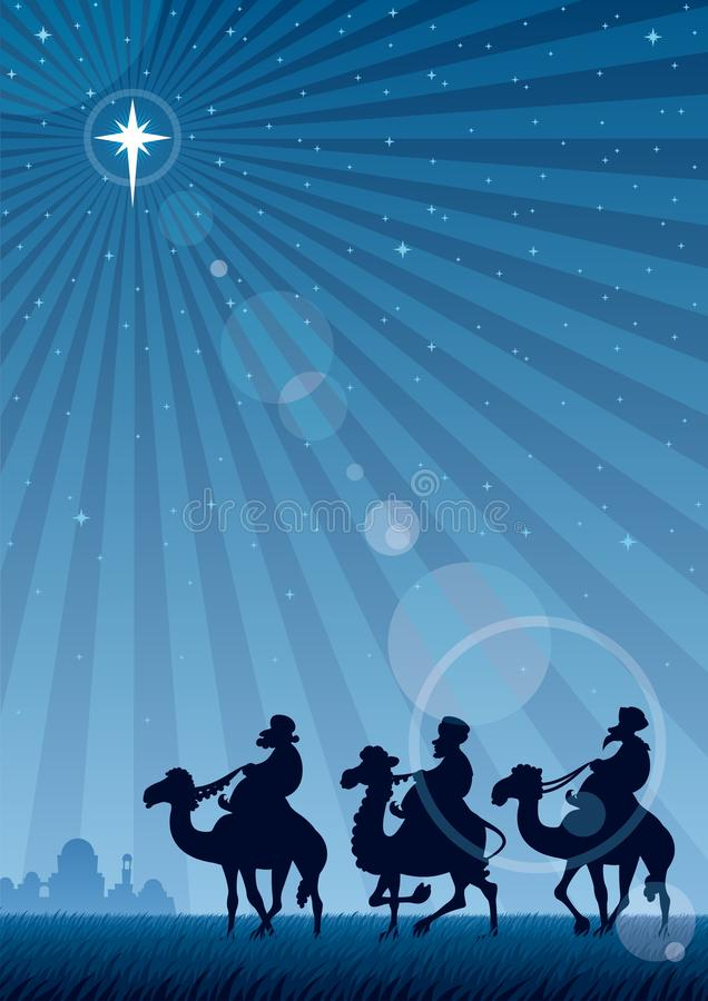 Kerstster stock illustratie