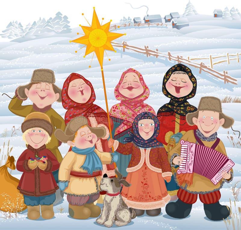 Kersttijd in Rusland stock illustratie