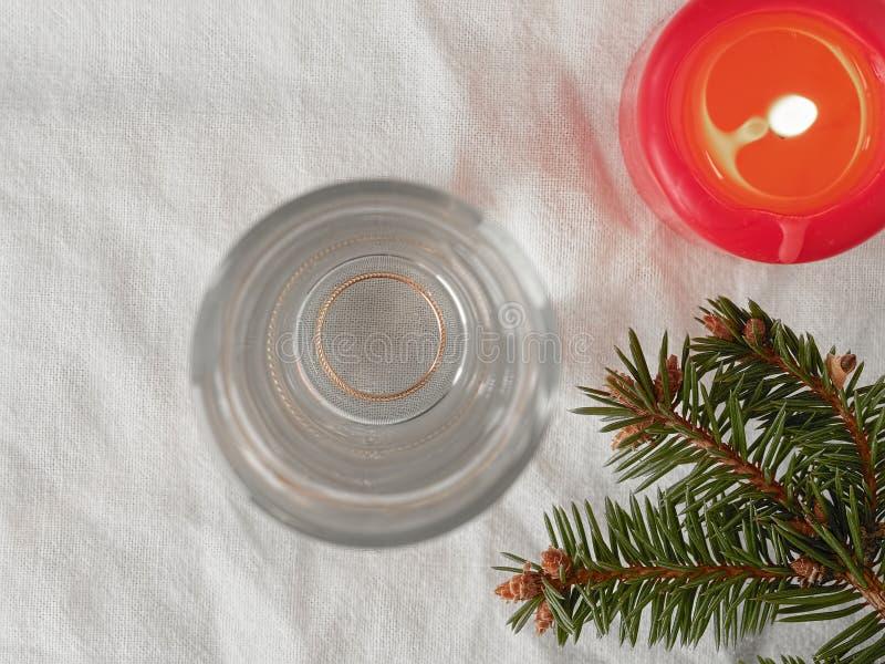 kerstviering Traditionele fortuin-vertelling voor het nieuwe jaar Bovenaanzicht stock fotografie