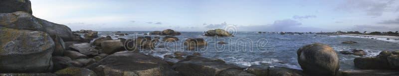 Kerveren, oceani panorama, Francia, Hdr fotografie stock libere da diritti