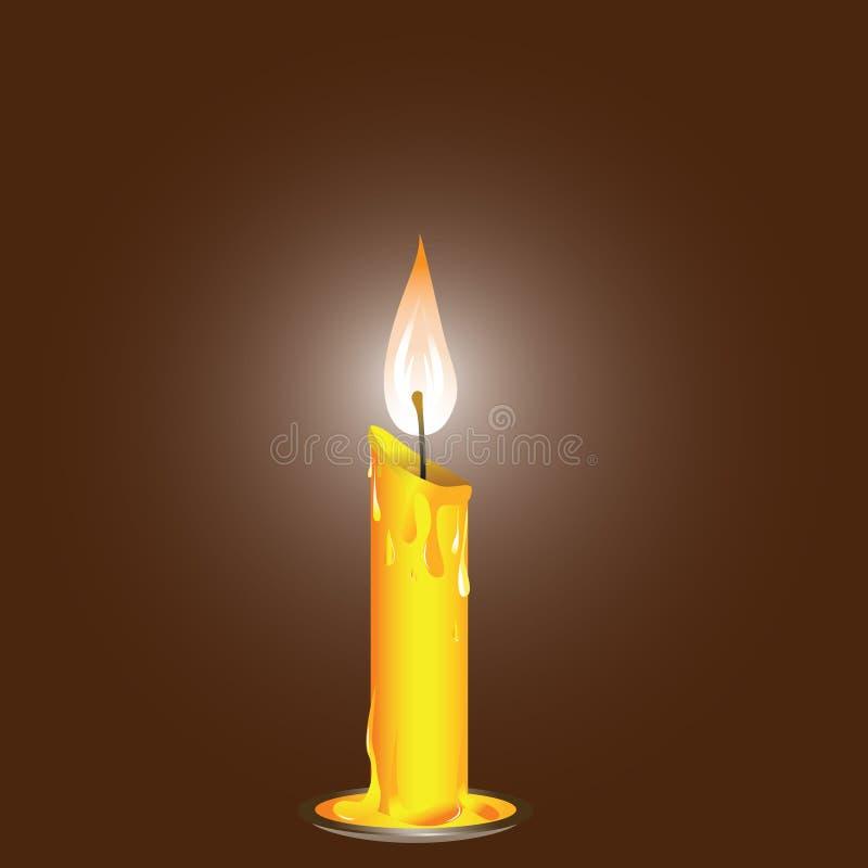 Kerze. lizenzfreie abbildung