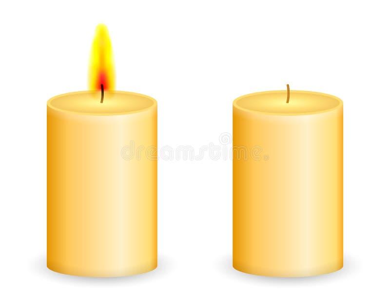 Kerze vektor abbildung