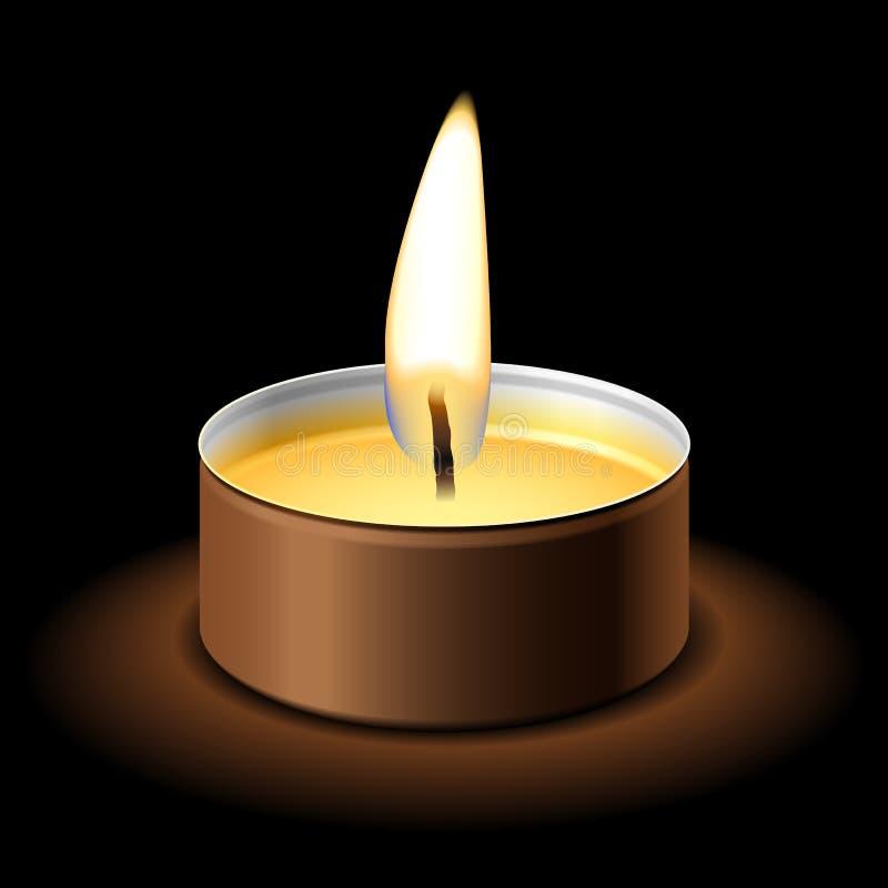 Kerze auf Schwarzem lizenzfreie abbildung