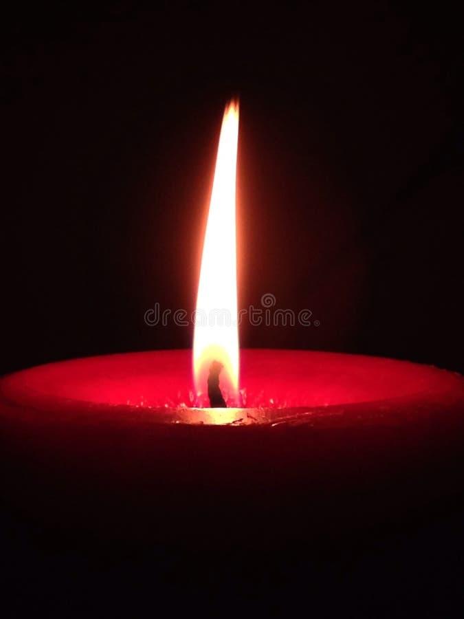 Kerze beleuchtete stockfoto