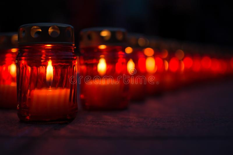 Kerze des Gedächtnisses lizenzfreies stockfoto