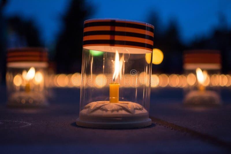 Kerze des Gedächtnisses stockfotos