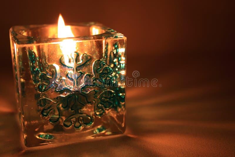 Kerze des neuen Jahres lizenzfreie stockbilder