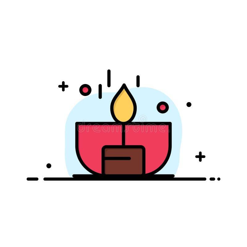 Kerze, Dunkelheit, Licht, Feuerzeug, Glanz-Geschäfts-flache Linie füllte Ikonen-Vektor-Fahnen-Schablone stock abbildung