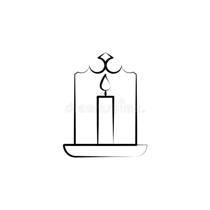 Kerze für Alternativmedizinikone Element der Alternativmedizinikone für mobile Konzept und Netz Apps Dünne Linie Kerze für vektor abbildung