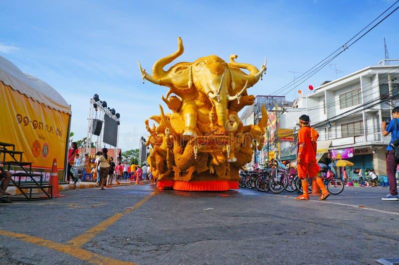 Kerze-Festival in Thailand lizenzfreies stockbild