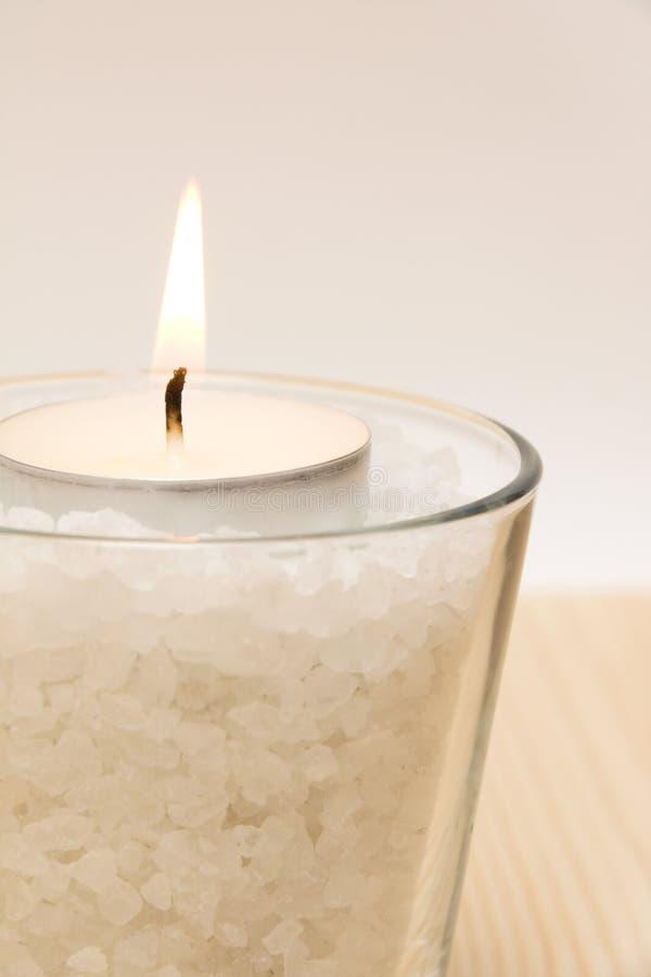 Kerze im Glas lizenzfreies stockbild