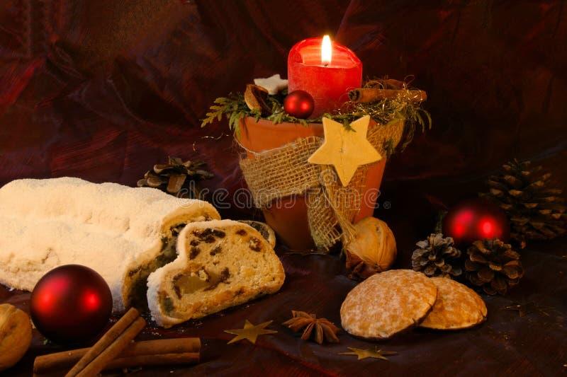 Kerze, Lebkuchen    stockbilder