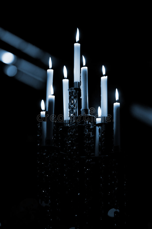 Kerze-Leuchter stockfoto