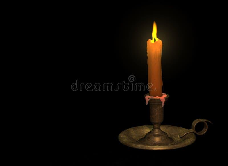 Kerze mit Halterung lizenzfreie abbildung