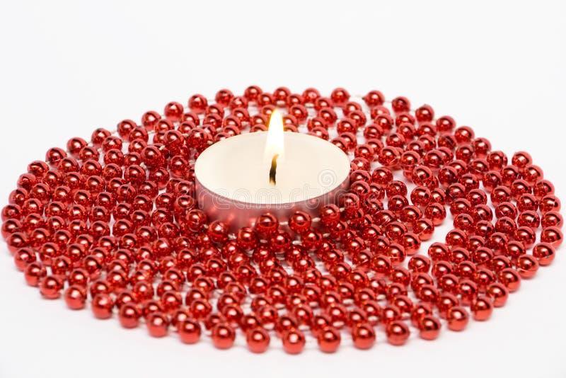 Kerze-und Dekoration-Korne stockbild